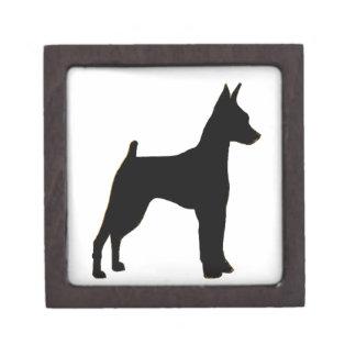 miniature pinscher silhouette gift box