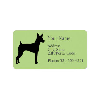 Miniature Pinscher Silhouette Label