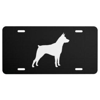 Miniature Pinscher Silhouette License Plate
