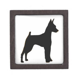 miniature pinscher silhouette premium jewelry boxes