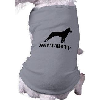 Miniature Pinscher Silhouette with Custom Text Doggie Tee Shirt