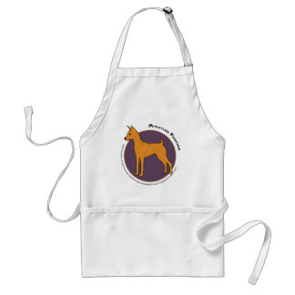 Miniature Pinscher, Stag Red Adult Apron
