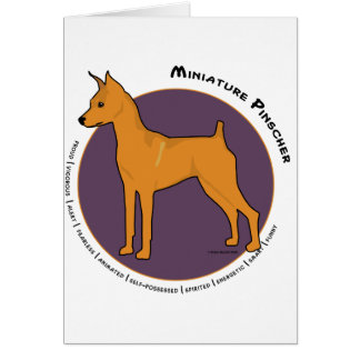 Miniature Pinscher Stag Red Greeting Card