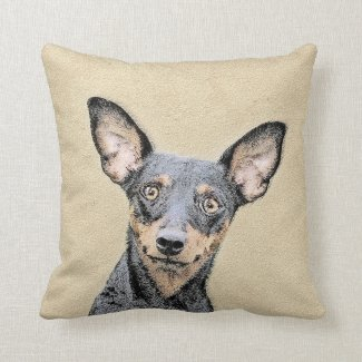 Miniature Pinscher Throw Pillow