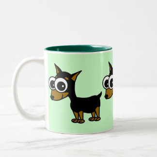 Miniature Pinscher Two-Tone Coffee Mug