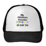 Miniature Pinscher Walks Design Mesh Hats