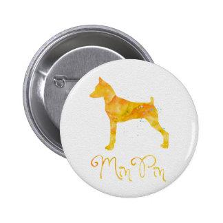 Miniature Pinscher Watercolor Design Pinback Button