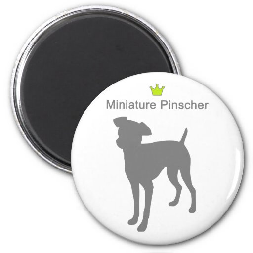 Miniature Pinscherg5 Imán Redondo 5 Cm