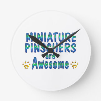 Miniature Pinschers are Awesome Wall Clock