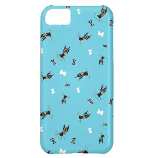 Miniature Pinschers Bows and Bones Blue Cover For iPhone 5C