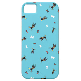 Miniature Pinschers Bows and Bones Blue iPhone SE/5/5s Case