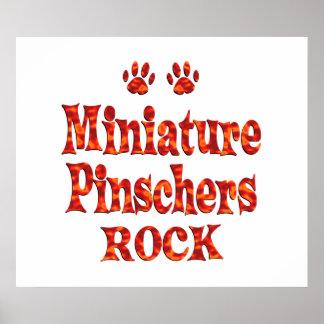 Miniature Pinschers Rock Posters