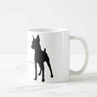 Miniature pinshiyamagukatsupu miniature pinscher coffee mug