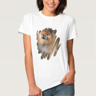 Miniature Pomeranian Ladies Fitted T-Shirt