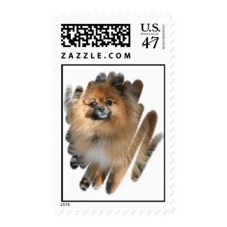 Miniature Pomeranian Postage Stamp
