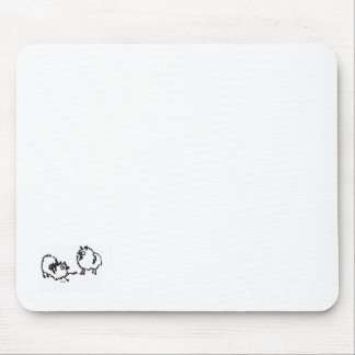 Miniature poms or keeshonden mouse pad