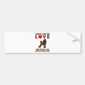 Miniature Poodle Bumper Stickers