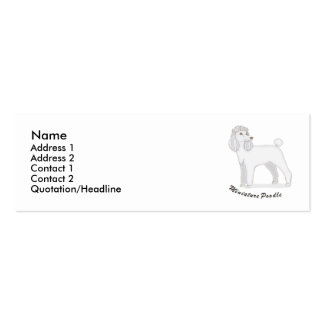 Miniature Poodle Business Card Templates