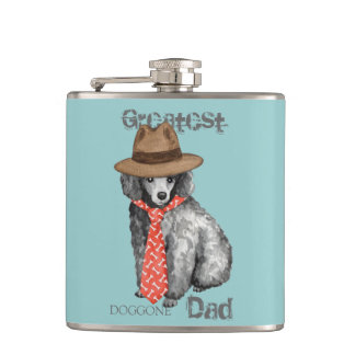 Miniature Poodle Dad Hip Flask