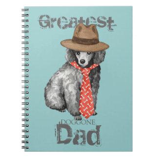 Miniature Poodle Dad Spiral Notebook