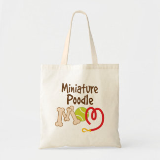 Miniature Poodle Dog Breed Mom Gift Budget Tote Bag