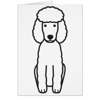 Miniature Poodle Dog Cartoon Card