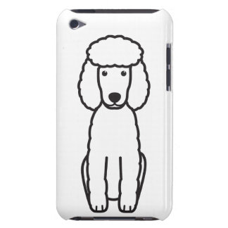 Miniature Poodle Dog Cartoon Barely There iPod Case