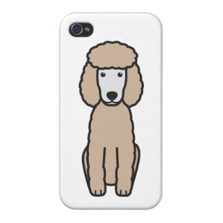 Miniature Poodle Dog Cartoon Case For iPhone 4
