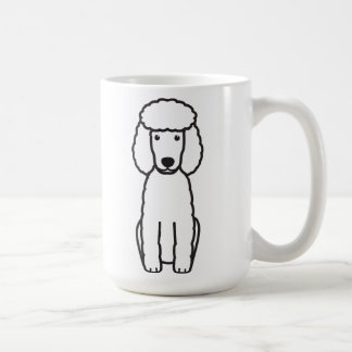 Miniature Poodle Dog Cartoon Coffee Mug