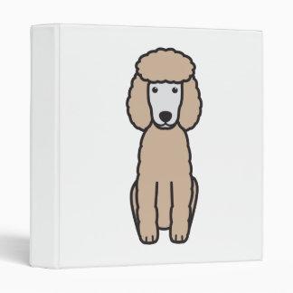 Miniature Poodle Dog Cartoon Vinyl Binder