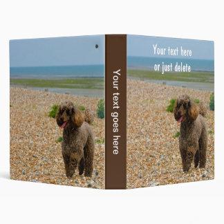 Miniature Poodle dog photo album, binder, custom Binder