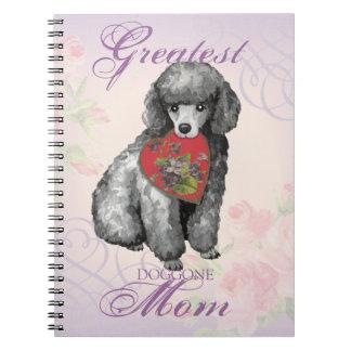 Miniature Poodle Heart Mom Notebook