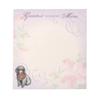 Miniature Poodle Heart Mom Scratch Pads