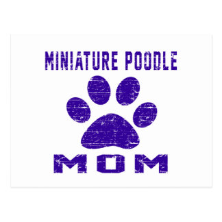 Miniature Poodle Mom Gifts Designs Postcard
