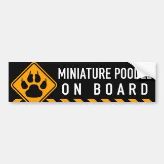 Miniature Poodle On Board Bumper Sticker