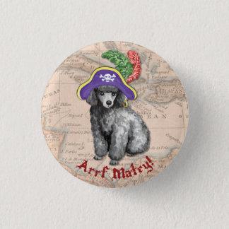 Miniature Poodle Pirate Pinback Button