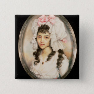 Miniature Portrait of a Girl Button