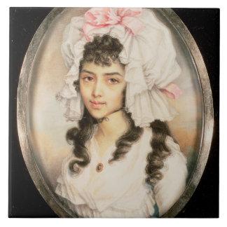 Miniature Portrait of a Girl Tile