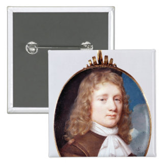 Miniature portrait of an Unknown Man, 1659 2 Inch Square Button
