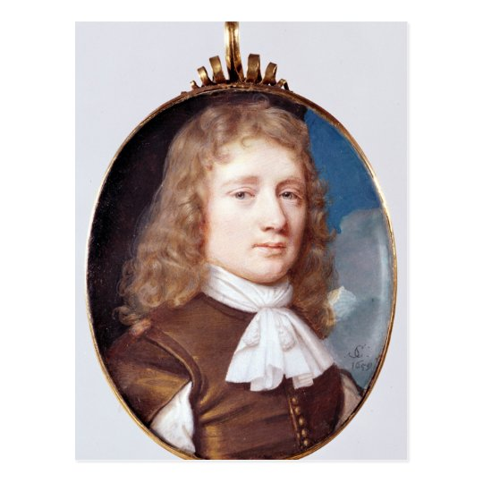 Miniature portrait of an Unknown Man, 1659 Postcard