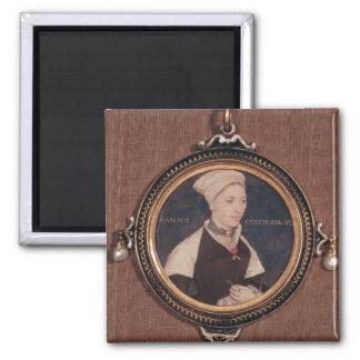 Miniature portrait of Jane Small 2 Inch Square Magnet
