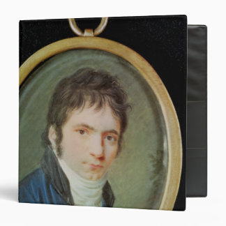 Miniature Portrait of Ludwig Van Beethoven , 1802 3 Ring Binder