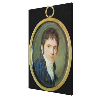 Miniature Portrait of Ludwig Van Beethoven , 1802 Canvas Print