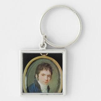 Miniature Portrait of Ludwig Van Beethoven , 1802 Keychain