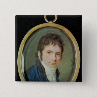 Miniature Portrait of Ludwig Van Beethoven , 1802 Pinback Button
