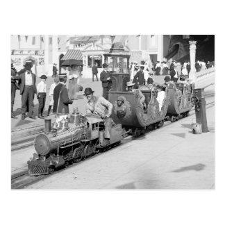 Miniature Railroad at Coney Island, 1905 Postcard