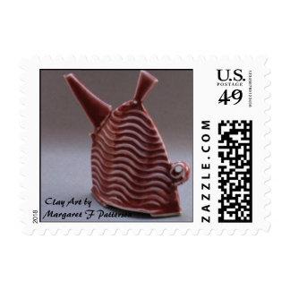 Miniature Red Teapot Postage