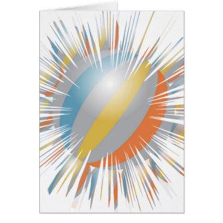 Miniature REIKI Karuna Symbols n Sparkle Blaast Greeting Card