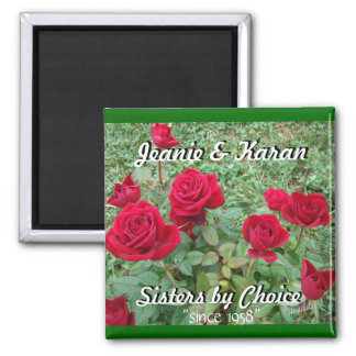 Miniature Roses-customize 2 Inch Square Magnet