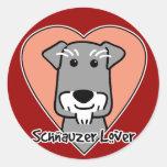 Miniature Schauzer Lover Classic Round Sticker